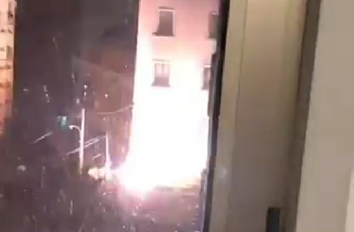 بالفيديو/ إندلاع حريق  في مدرسة القلبين الاقدسين في الأشرفية