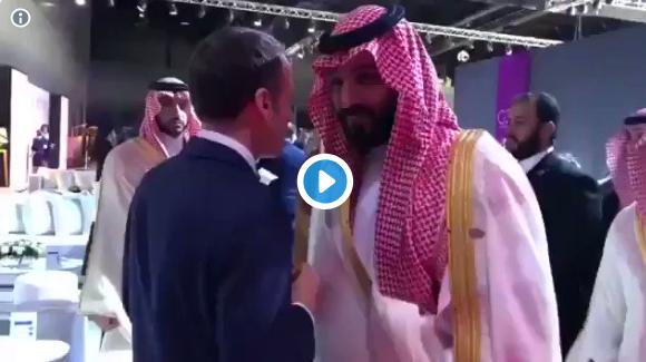 بالفيديو / الرئيس الفرنسي يوبخ بن سلمان و الاخير يرد: ساسمع كلمتك من الان وصاعدا !!