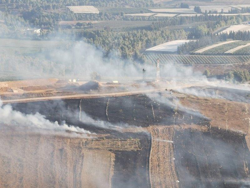 إطفاء قسم كبير من الحرائق في خراج بلدة مارون الراس التي تسببت بها قذائف العدو الاسرائيلي
