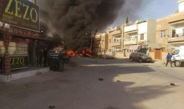"""""""سانا"""": شهداء وجرحى بانفجار سيارة مفخخة في القامشلي في سوريا"""
