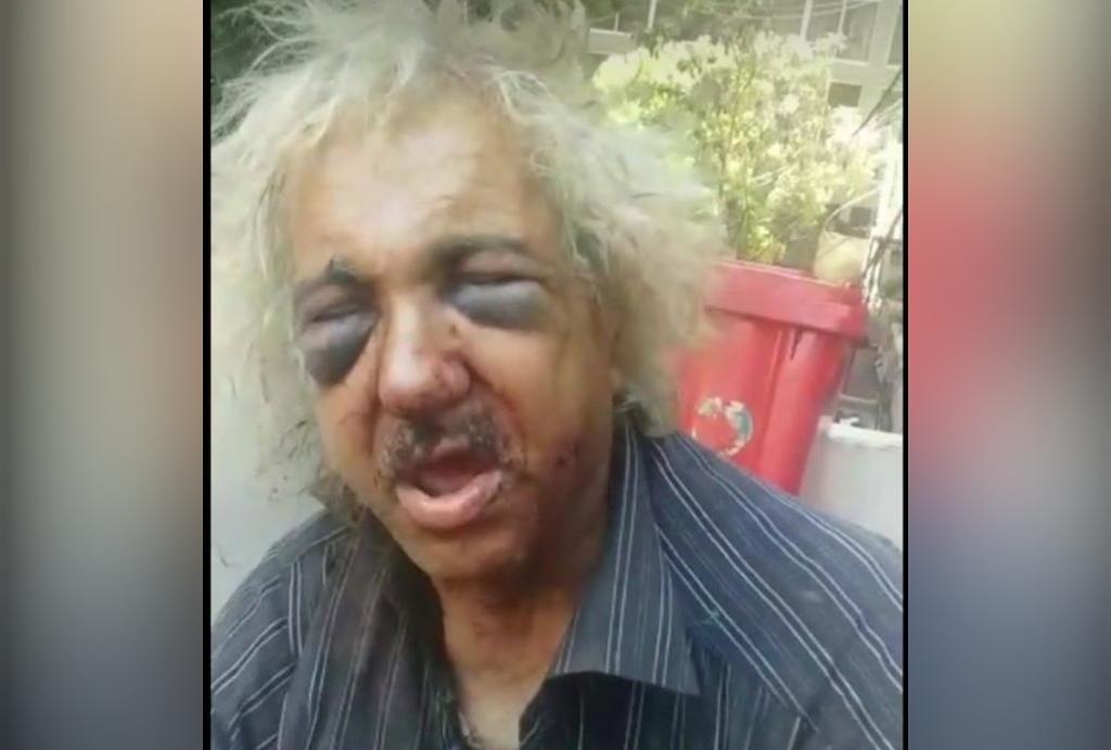 بالفيديو/ مسن متشرد في بيروت يتعرض لاعتداء وحشي من قبل عدد من الشبان!