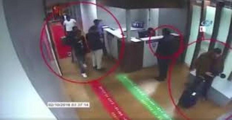 """اختفاء خاشقجي.. وسائل إعلام تركية تنشر مقاطع فيديو لتحركات """"المشتبه بهم""""!"""