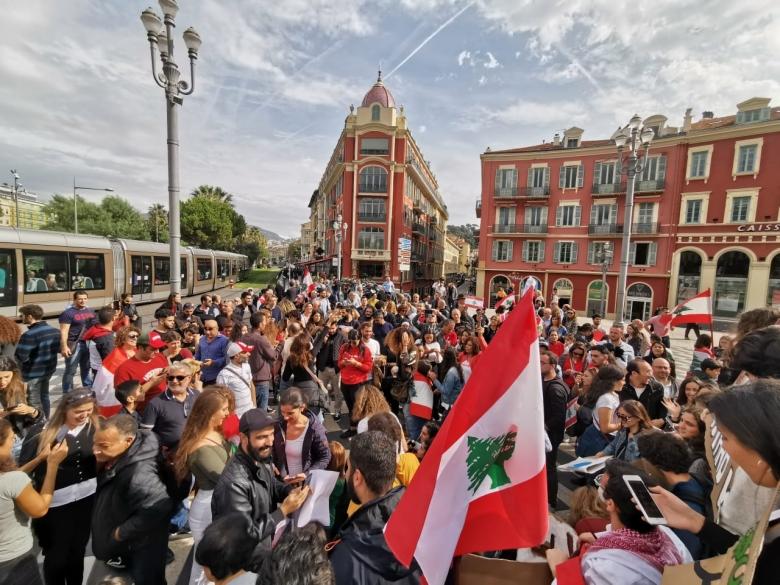 """تظاهرة للمغتربين في مدينة """"نيس"""" الفرنسية"""