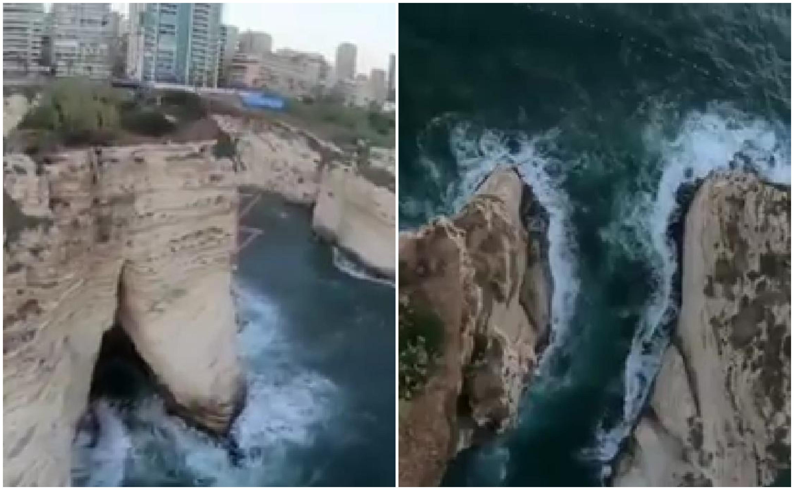 فيديو يحبس الأنفاس يظهر روعة صخرة الروشة في بيروت