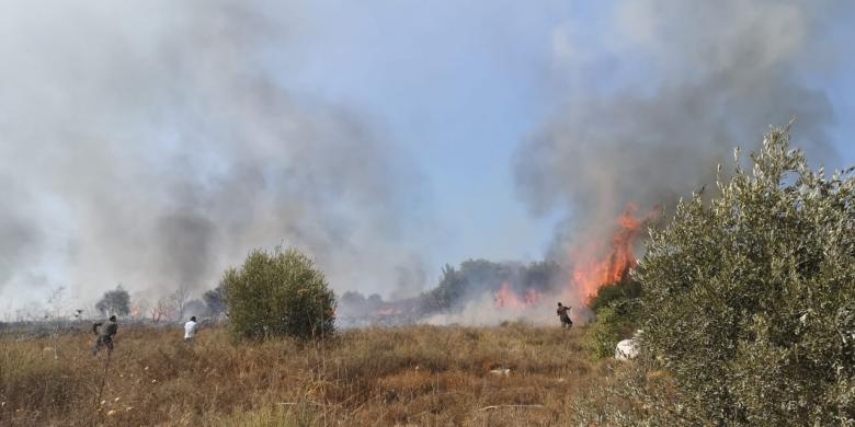 بالصور/ اندلاع حريق في بلدة ضهر الليسيني في عكار... ورئيس البلدية يناشد للتدخل السريع