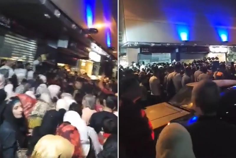 """بالفيديو/  بعد إعلان مطعم عن بيعه الشاورما بأسعار """"ايام زمان"""" في دمشق... حشود مجتمعة وقطع طرقات سعياً للوصول إلى المطعم!"""