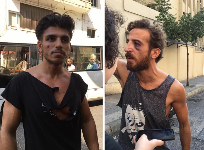 بالصور/ الإفراج عن عدد من المتظاهرين الذين أوقفوا أمس!