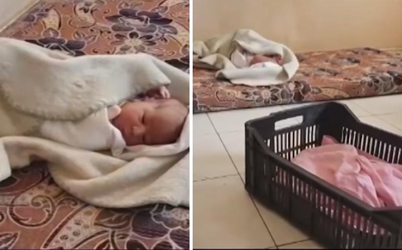 بالفيديو/ الرضيعة التي عثر عليها في منيارة داخل صندوق بلاستيكي...عائلة سورية وجدتها أمام مدخل بناية تقطنها أسر سورية نازحة