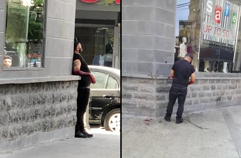 بالفيديو/ في طرابلس.. مواطن بحالة اللاوعي يقوم بتشطيب نفسه بآلة حادة!