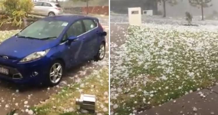 بالفيديو/ تساقط حبات برد ضخمة شمال ولاية كوينزلاند-إستراليا