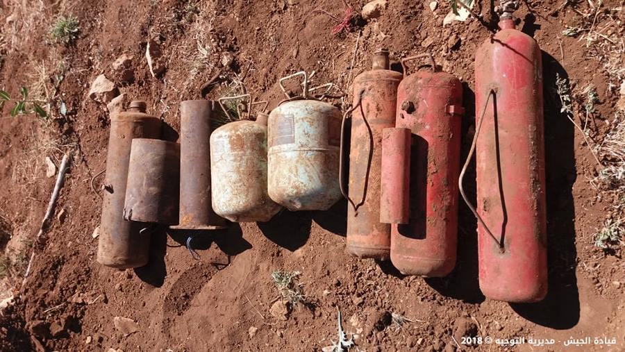 بالصور/  الجيش يعثر على 8 عبوات مزروعة في جرود عرسال.. بعضها معدّ للتفجير!