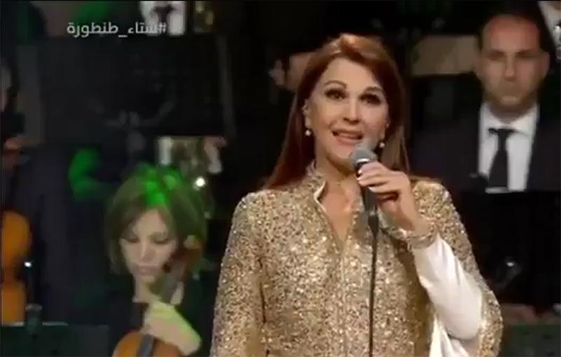 """بالفيديو/ ماجدة الرومي تغازل السعودية """"هالأرض قبل ما تكون بتخص قلوبنا محسوبة على ضمايرنا...بتمنى تبقى الأرض الطيبة عاصمة للخير"""""""
