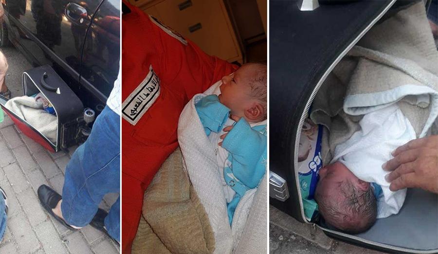 بالفيديو/ بعدما عثر عليها داخل حقيبة على كورنيش صيدا...الرضيعة في المستشفى وحالتها جيدة