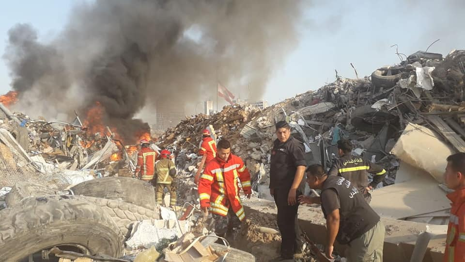 بيان لقيادة الجيش بشأن حريق مرفأ بيروت