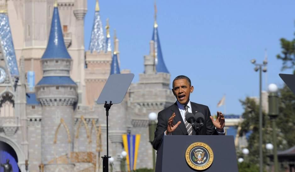 """في حديثه أمام الكونغرس أوباما يكشف عن طرده من """"ديزني لاند""""...كنت أدخن السجائر !"""