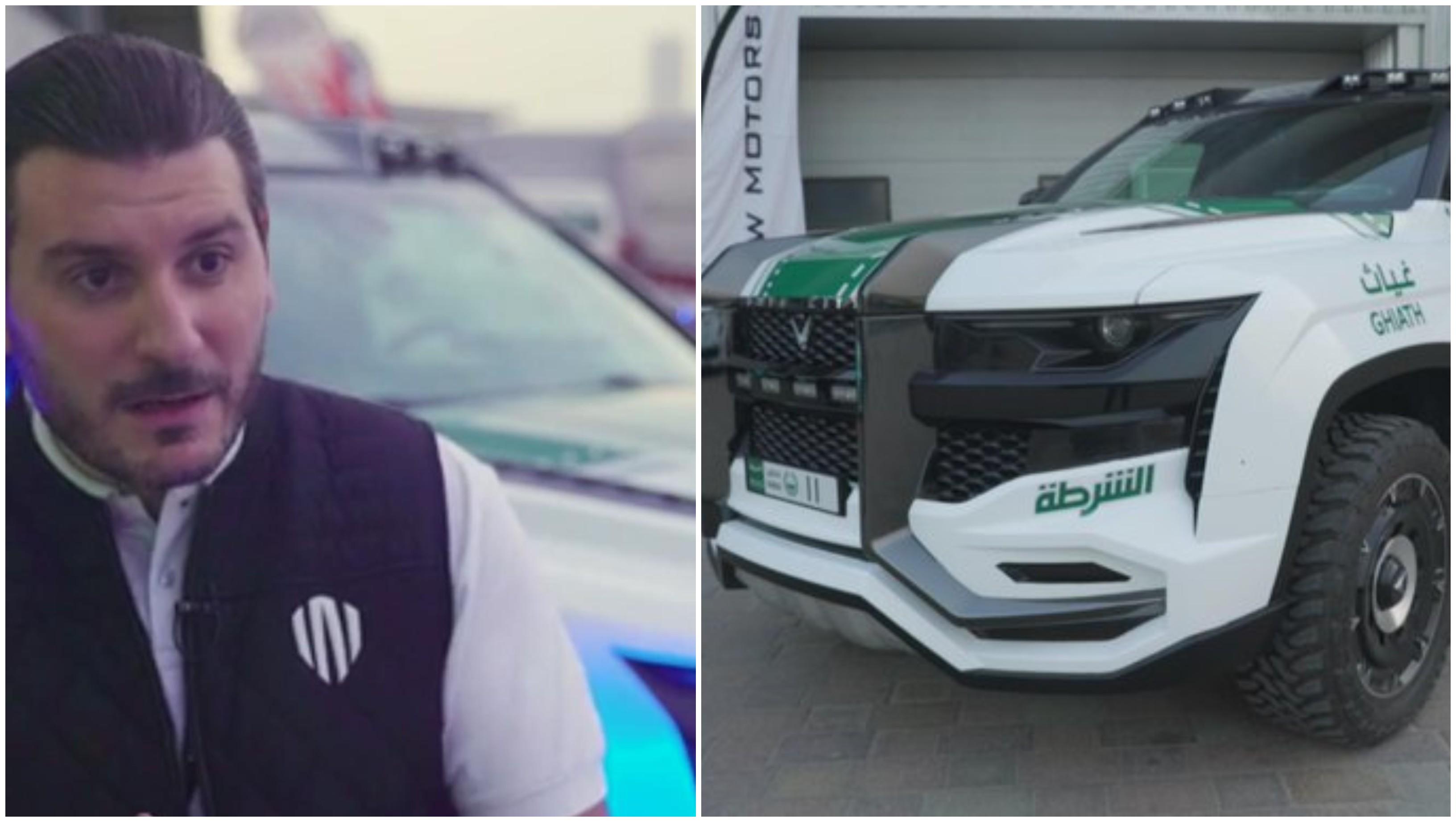 بالصور/ بمخبأ أسلحة و16 كاميرا.. شركة لبنانية تصمم أول سيارة في العالم لأساطيل الشرطة خصيصاً لشرطة دبي