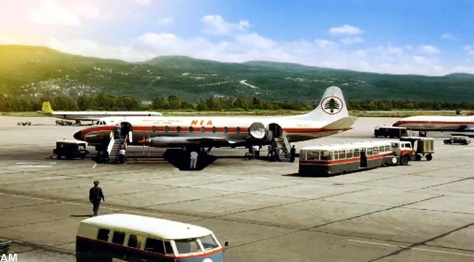 بالصورة/ هكذا كان مدرج مطار بيروت في خمسينيات القرن الماضي !