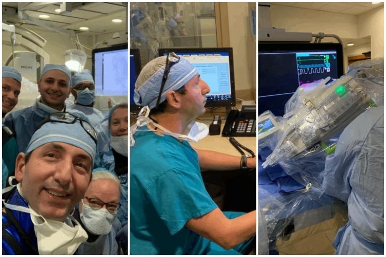 """بالصور والفيديو/ إنجاز طبي جديد لجراح الأعصاب اللبناني باسكال جبور...أجرى أول عملية زرع دعامة في الشريان السباتي بواسطة """"الروبوت"""" في أميركا"""
