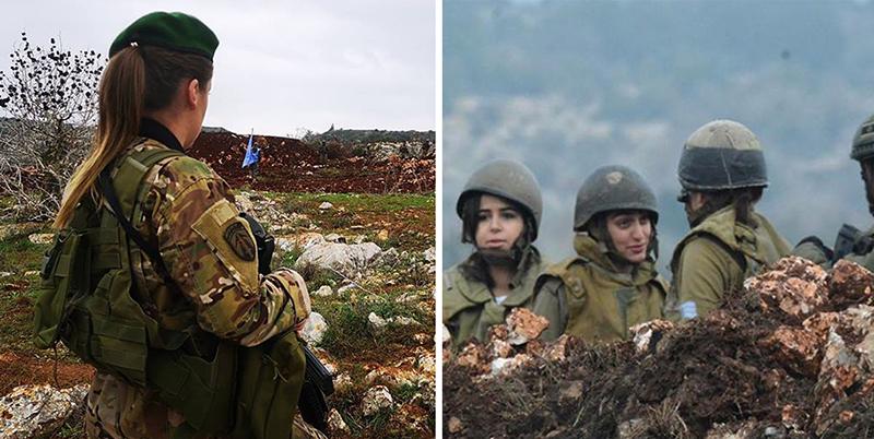 """بعدما نشر جيش الإحتلال الإسرائيلي مجندات """"إسرائيليات"""" مقابل ميس الجبل، الجيش اللبناني يرد بجندية على الحدود"""