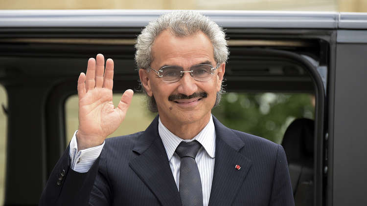 تراجع حاد في ثروة الوليد بن طلال حيث خسر 58 % من ثروته لتصبح 15.2 مليار دولار !
