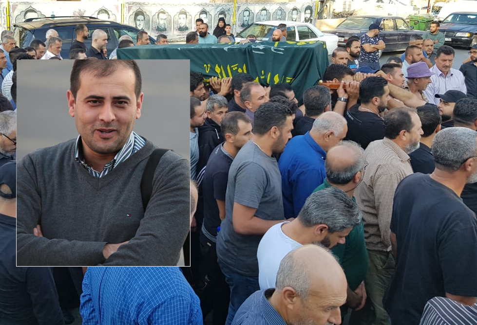 ديرقانون النهر شيعت فقيد الشباب احمد حريري بعد ان توفي بسكتة قلبية مفاجئة بمشاركة حاشدة