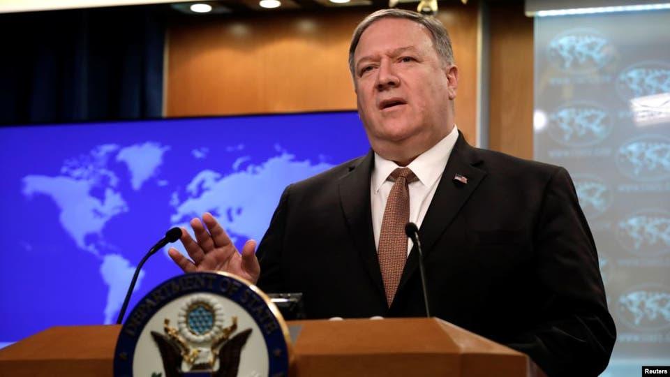 بومبيو: بريطانيا تتحمل مسؤولية الحفاظ على سفنها ولا نريد حربا مع إيران (رويترز)