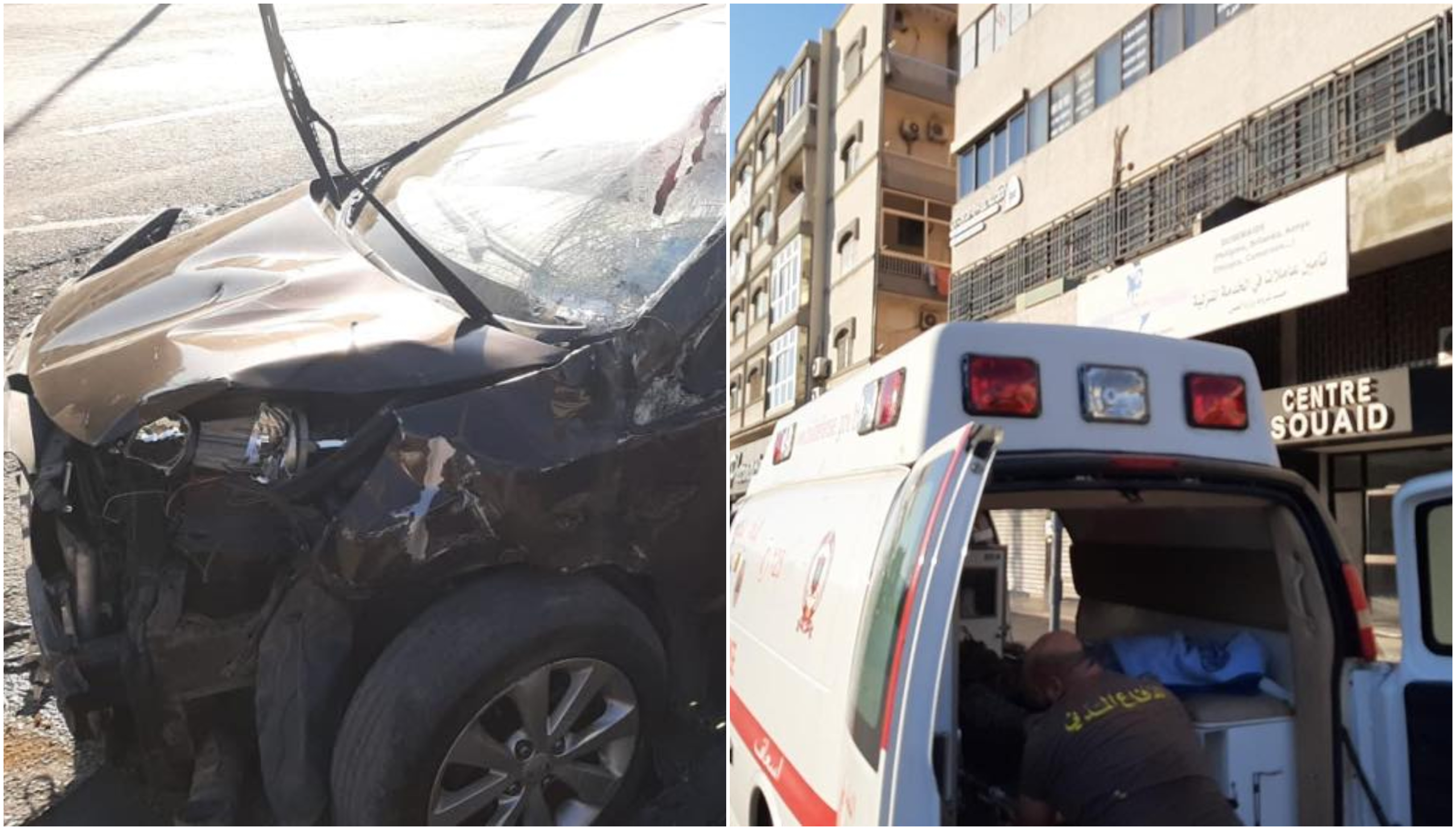 بالصور/ 18 جريح بينهم أطفال بحادث اصطدام في جبيل...استُعملت معدات الانقاذ الهيدروليكية بسبب قوة الحادث