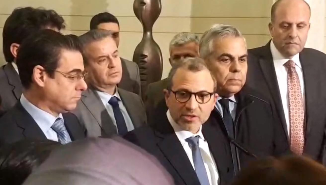 باسيل: لم نتقدم بأيّ مطلب للرئيس المكلف وما نطالب فيه هو توفر عناصر النجاح والفعالية للحكومة