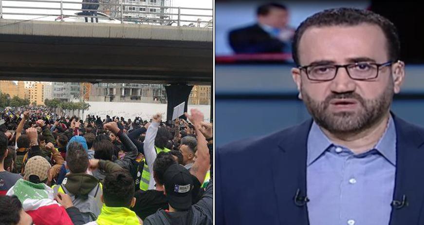"""بالفيديو /  """"الجديد"""" وMTV يتصارعان على اعداد المتظاهرين.. والمنار كما الجديد بيضتها: كانوا يبحثون عَمّن يحرر الهيكل من اللصوص"""