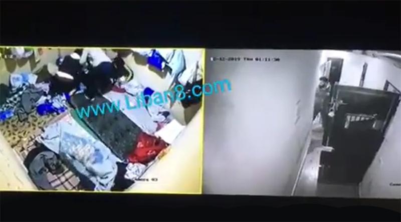 بالفيديو/ لحظة فرار موقوفين من مخفر المصنع بعد اعتدائهم على حارس النظارة