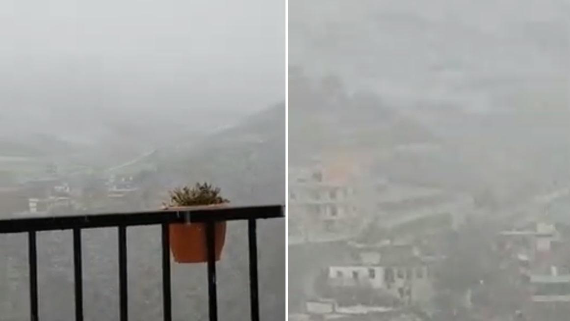 بالفيديو/ الثلوج تتساقط منذ الصباح الباكر في بلدة شبعا...الثوب الأبيض بدأ يغطي المنطقة