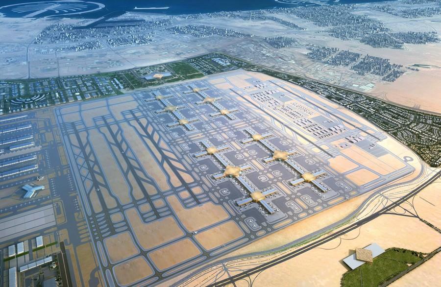 """بلومبرغ: """"دبي توقف مشروع المطار الأضخم"""" كان سيكون من أكبر مطارات العالم بطاقة استيعابية تصل إلى 250 مليون راكب سنوياً"""