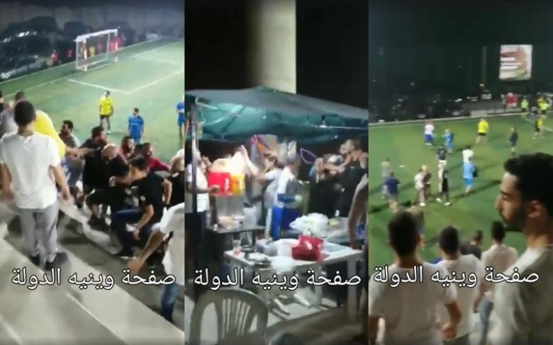 بالصور/ مباراة لكرة القدم تتحوّل الى إشكال وتضارب في كفور- كسروان!
