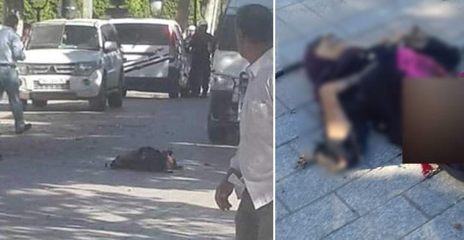 بالفيديو والصور/  امرأة تفجر نفسها وسط العاصمة التونسية