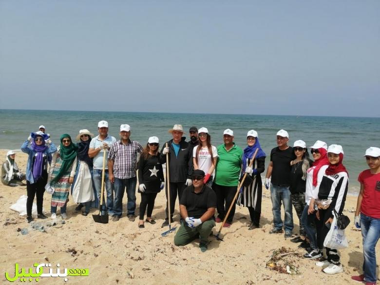 جمعية نساء بلا حدود العالمية شاركت في الحملة الوطنية لتنظيف الشاطئ اللبناني