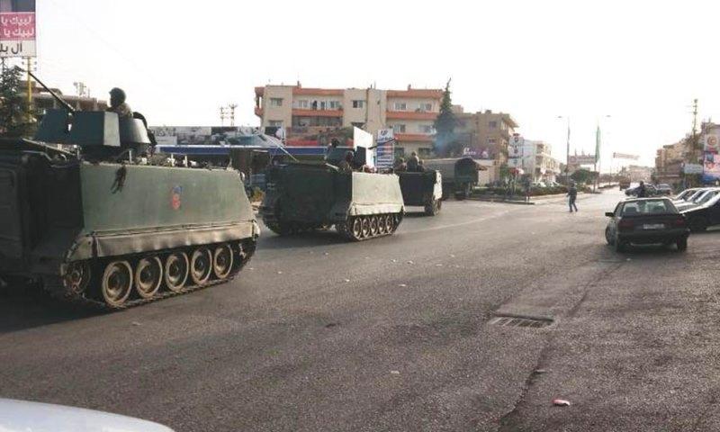 الجيش اللبناني يقفل مداخل حي الشراونة بعد سماع رشقات نارية من سلاح حربي