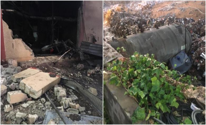 """بالصور/ إنفجار """"مرجل بخاري"""" في معمل للكرتون أنهى حياة عامل في قب الياس صباح اليوم"""